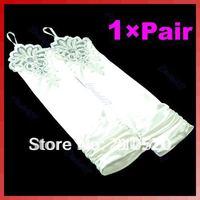Свадебные перчатки Black Women Long Elbow Finger Gloves Mittens F Party Wedding Bridal Evening Dress