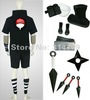 Amime Naruto Cosplay Costume- Uchiha Sasuke 2nd Black Men's Costume Set with Weapons,Halloween / Party Cosplay