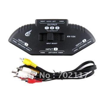 AV-33 3 to 1 TV Multi Box AV RCA Video Device Splitter Switch