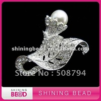 fashion design pearl rhinestone brooch for wedding bouquet,free shipping,popular jewelry brooch for garment accessory ,hot sale