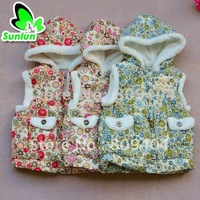 Sunlun Girls' Cute Embroidered Velvet Hoody Suits Free Shipping SCG-1038
