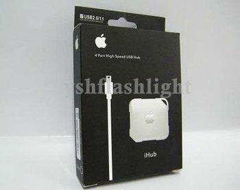 ~ Free Shipping,wholesale!2pcs/lot Style usb 2.0 Hi- speed USB HUB 4 ports mini HUB with cable embeded YM