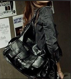 2012New winter handbag Korean version of the bag PUShoulder handbag Liangpi bags-(China (Mainland))