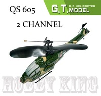 QS 605 RC helicopter 2ch 2 channel Mini Battle/Fighting Apache remote control RTF ready to fly RC toy qs605 low shipping fee