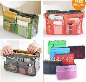 new style Free shipping multifunctional cosmetic bag organizer ,storage bag ,handbag organizer for laptop bag 4pcs/lot