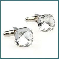High-Quality New Design Cufflinks With Clear Diamonds, Jewelry Cufflinks, Novelty Cufflinks, Free Shipping