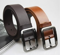 TOP brand 100% genuine Leather waist Belt for men + fashion brown Leather Belts + free shipping high quality hot sale