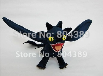 "How To Train Your Dragon Toothless Night Fury 17"" Plush stuffed Toy   Free shipping(pieces/lot)"