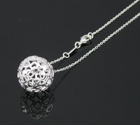 Wholesale 925 Sterling Silver pendant necklace.fashion 925 silver necklace.silver jewelry.Free shipping