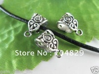 Объемное колье Fashion hottest 50pcs Silver Gray real leather fashion necklace cords w lobster approx 43cm, & C15