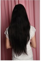 "22"" EASY DIY Silky Straight Clip in Synthetic Hair Extensions , 1pcs 5clips,free shipping"