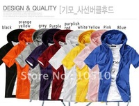 New Slim Sexy Top Designed Zip up Mens Short Sleeve Sweatshirt Hoodies Jacket 9 Colours US Size:S,M,L (N53)