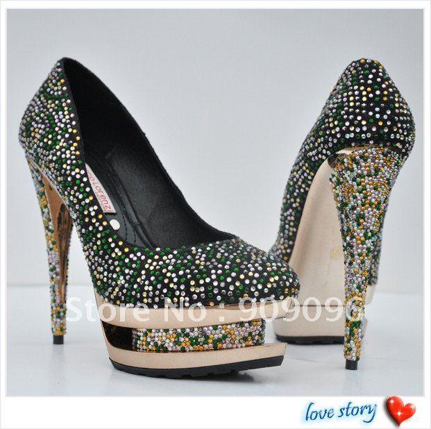 heel sexy woman double platform pumps party bridal shoes dress shoes