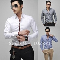 2013 fall and winter Slim fashion Stand-collar jacket men and retail