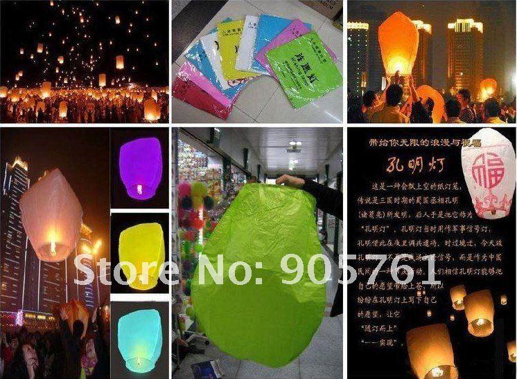 Free Shipping romantic Wedding /holiday/birthday , CHINESE Kongming heart Sky Lanterns, Wishing Lamp(China (Mainland))