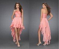 Free shipping Shining Sexy Chiffon Cocktail Dresses Pink Prom Dress Cheap Party Dress