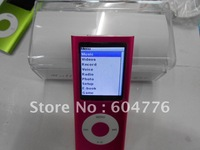 Wholesale-Brand new MP4 player 4th Gen with FM radio Games play Ebook 9 colors optional fast free shipping