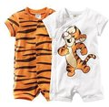 Boy short sleeve romper baby cotton bodysuits Ronny Turiaf design jumpsuits cartoon tiger bodysuits 6pcs/lot free shipping