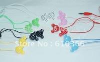 30pcs Mickey Earphone , Mini Earphone Mupods 3.5mm Plug 8 Colors Cool Design High Quality Best Price