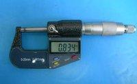 free shipping 8pcs /lot 0-25mm x0.001mm 7keys Electric Digital Micrometer