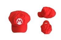 Free Shipping 10pcs/ lots Brand New Original Super Mario Bros Hat Cap Red for Party Cosplay, Anime Cosplay