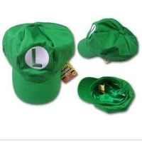 Free Shipping 10pcs/ lots Brand New Super Mario Bros Cosplay Hat Luigi Cap Anime Cosplay, Party Cosplay