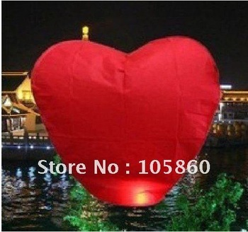10 pcs heart Sky Lanterns, Wishing Lamp SKY CHINESE LANTERNS BIRTHDAY WEDDING PARTY