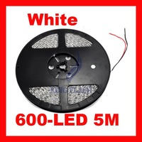 Free shipping New 5m SMD 3528 Flexible Waterproof 600 LED Strip Light