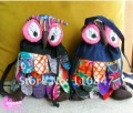 Free shipping! Wholesale 5 pcs Handmade Patchwork Single shoulder bag Owl Bag Purse Linen Wallet