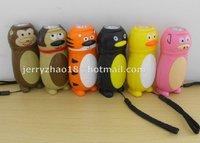 animal shape torch hand press flashlight  according to customer designed