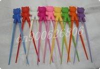 children learning chopsticks plastic toy infant chopsticks , top quality +free shipping 100 pcs / lot