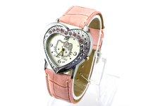 80PCS/lot EMS Free Shipping Newest Helclo Kitty watches Quartz watch  Wristwatch Fashion watch for women's watch ladies watch