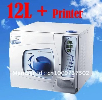 12L Vacuum Dental Steam Autoclave Sterilizer with data printing printer