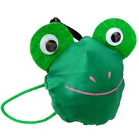 Hot sales! 10pcs/lot  frog animal foldable folding shopping bag,Eco-friendly handle Bag green colors available and free shipping