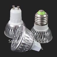10pcs/lot 9W 110V 220V E27 9W 3x3W high power spotlight LED Cool White Light Bulb Lamp AC 85V-265V   #2705