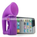 High quality silicone horn stand amplifer speaker for Apple iPhone4 ,Great Gift,Free Shipping