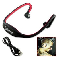 Black & Red Sport Stereo Wireless Bluetooth Headset Headphone For Cell Phone