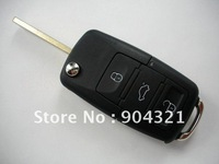 Free  Shipping New wholesale FOR VW Volkswagen BEETLE GOLF JETTA PASSAT 3 BUTTONS BUTTON REMOTE KEY CASE Shell FOB
