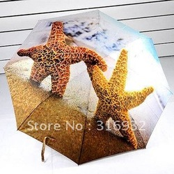 Quality Goods New fashion umbrella sunshade Solar umbrella Animal starfish Umbrella(China (Mainland))