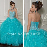 Beautiful Ballgown Sweetheart Beaded Bodice New Style Quinceanera Dressestail Dresses 2012
