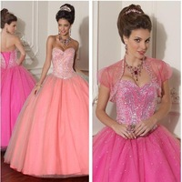 Fabulous Ballgown Sweetheart Sequins Bodice Tulle Lace up Quinceanera Fashion Dresses