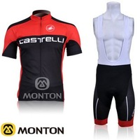 2012 CASTELLI  Team Cycling clothing /Cycling wear/ Cycling short sleeve jersey+ Bib Shorts Sets Suite B010 Free Shipping