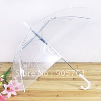 "Wholesale Case of 12 Clear Dome Shape 46"" Umbrellas - saraglove.com"