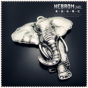 Tibetan Silver (20pcs) Zinc Alloy Jewelry Accessories Classic Elephant Charm(3906#) 55*72 mm Free ship