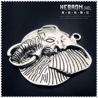 Tibetan Silver (5pcs) Zinc Alloy Jewelry Accessories Classic Elephant Charm(3908#) 51*58 mm Free ship