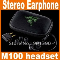 NEW Razer Moray M100 headset Stereo Gaming Earphone Headphone Stereo In Ear Free Shipping