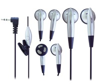 Silver color  mobile  phone headphones for iPhone iPad with 15mm speaker and 1.2m cord length