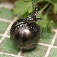 LUXURY BLACK BALL DESIGN QUARTZ NECKLACE POCKET WATCH BRAND NEW NICE GIFT WHOLESALE PRICE H161