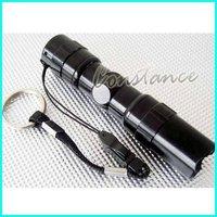 10pcs/LOT 3W  water-proof LED Flashlight mini high brightness LED torch + Free Shipping (without retail box)