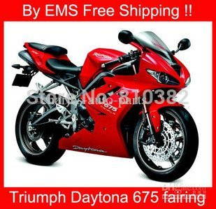 EMS Free Shipp full fairing kit for TRIUMPH DAYTONA675 675 TRIUMPH 675 Red paint 3123